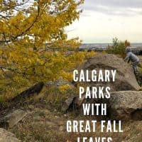 Calgary Parks with Great Fall Leaves