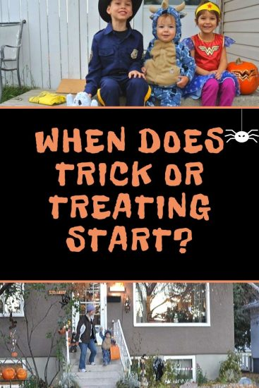 When Does Trick or treating start in Calgary?