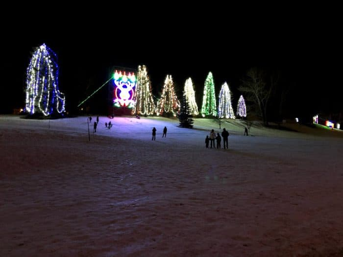 Toboggan Hill at Lions Festival of Lights- Calgary Christmas Light Displays