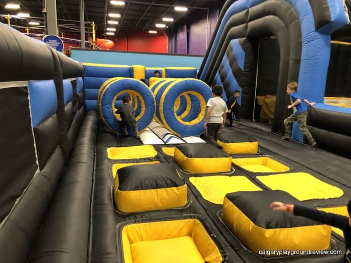 Inflatable play area - ninja course