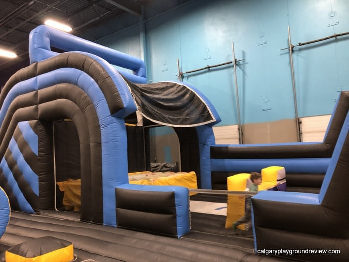 inflatable play area at the big box