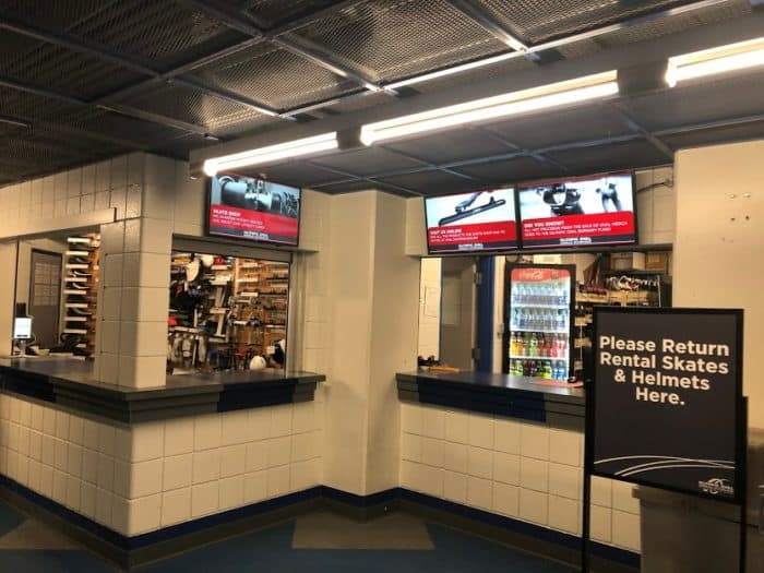 Skate shop at the Olympic Oval