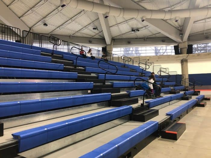 flexible tiered seating at the Olympic Oval Arena