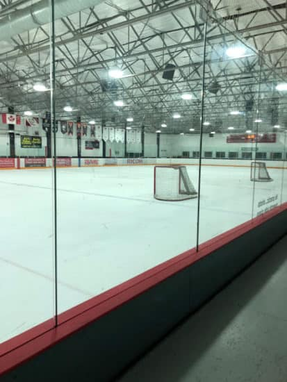View of the rink at the Thorncliffe Greenview Arena
