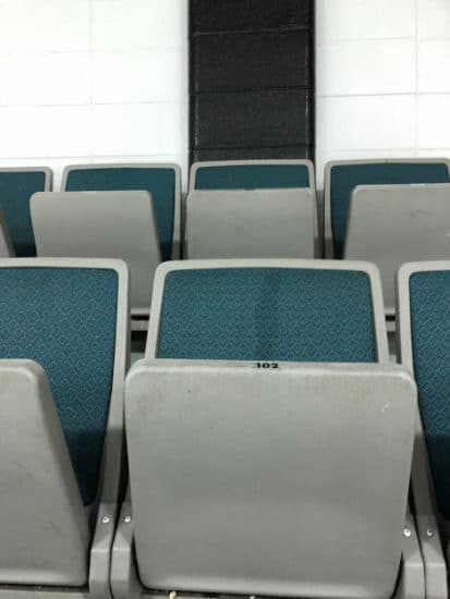 Seats at the Thorncliffe Greenview Arena